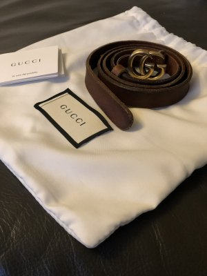 Gucci Cinturón de cuero marrón Cuero