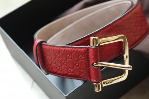 Gucci Belt neon red