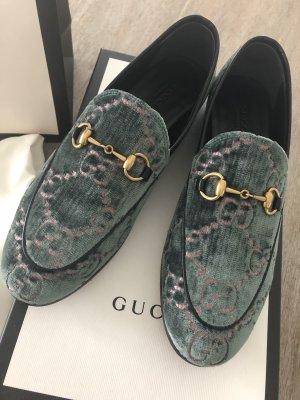Original Gucci Jordaan Velvet Samt Slipper, Gr. 37,5 (38)