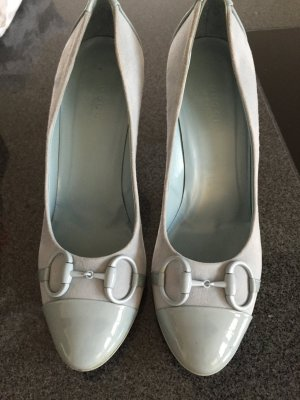 Original Gucci Leder Pumps hellblau
