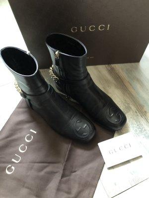*****Original Gucci  Leder Stiefeletten *Top Zustand*895€ mit Karton Staubbeutel Karte