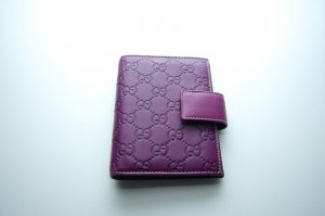 Gucci Accessory violet leather