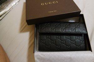 Original Gucci Portemonaie schwarz Leder neu NP 420€