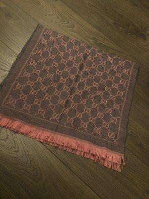 Gucci Wollen sjaal grijs-roze