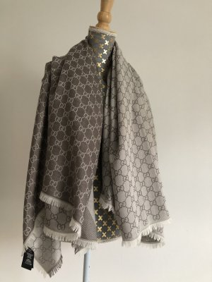 Gucci Écharpe en soie crème-blanc cassé