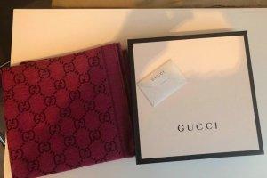 Gucci Gebreide sjaal roze-karmijn