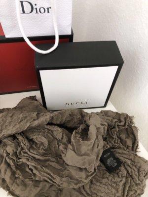 Gucci Bufanda de lana marrón grisáceo-taupe