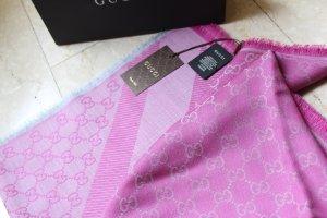 Gucci Scarf pink-light grey