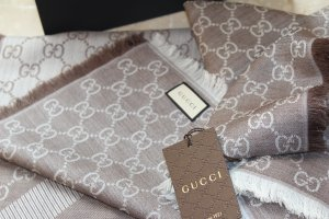 Gucci Scarf oatmeal-grey brown