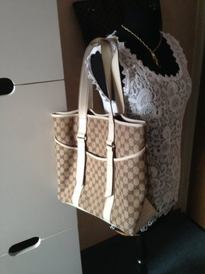 Original GUCCI Shopper Canvas Leder