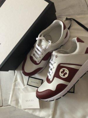Original Gucci Sneaker Soft Weiß/Rot GG Logo neu mit Karton Stoffbeutel 550€