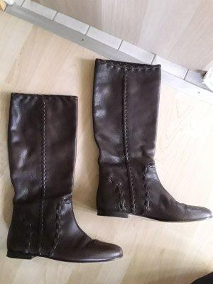 quality design a6089 e7c5a Gucci Stivale morbido marrone Pelle