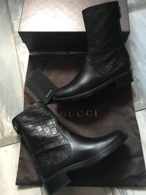 Gucci Enkellaarsjes met hak zwart Leer