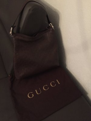Gucci Hobos dark brown leather