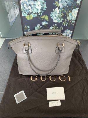 Gucci Sacoche gris cuir
