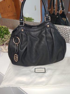 Original Gucci Tasche schwarz leder