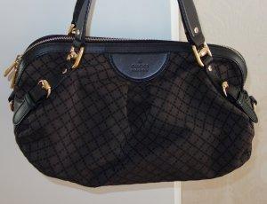 Original Gucci Tasche Sukey GG Stoff mit Lederbesatz 269930 Braun