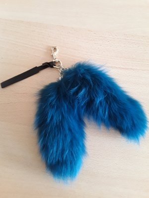 Gucci Key Chain neon blue fur