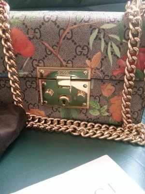 Original Gucci Tian Padlock Tasche GG Supreme Pre-owned, Chain Shoulder Bag