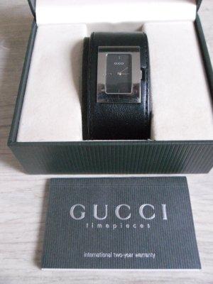 Original GUCCI Uhr Mod. 7800L mit Box und Kaufausweis Lederarmband