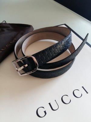 Gucci Ceinture bleu foncé cuir