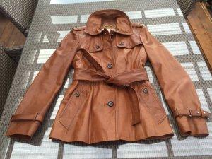 Original Gucci Vintage Designer Lederjacke Gr 34