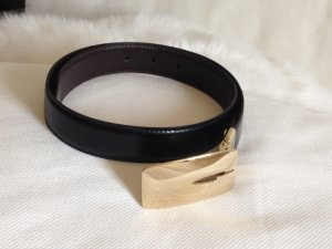 Gucci Leather Belt black-gold-colored leather