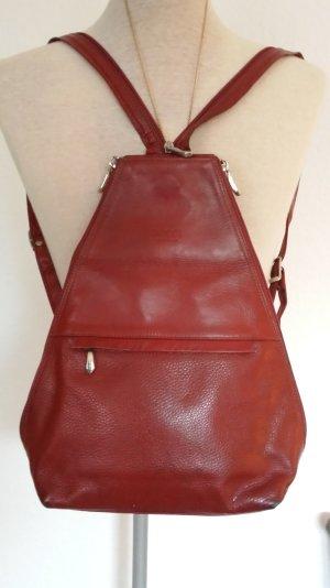 Original Gucci Vintage Rucksack selten Tasche Schutertasche Dunkelrot Echt Leder
