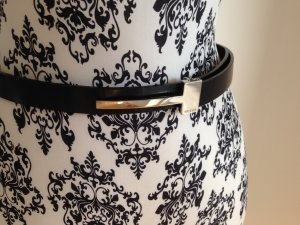 Gucci Waist Belt black-silver-colored leather