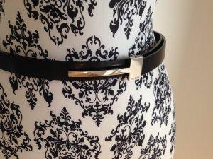 Original Gucci Vintage Taillengürtel mit extravaganter Silberschließe Elegant - Größe 75