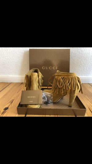 Gucci Western Booties sand brown-camel