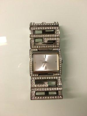 Original Guess Armbanduhr in Silber mit Swarovski Steinchen Boho, Vintage, Blog