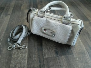 Guess Carry Bag oatmeal-silver-colored leather