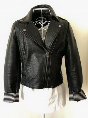 Guess Faux Leather Jacket black