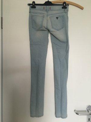 Original Guess Jeans Medium rise skinny 'Sarah Fit', hellblau washed, Größe 25