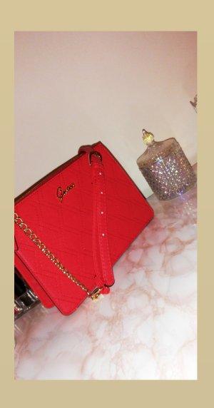 Original Guess Schultertasche in Rot mit Goldenen Details