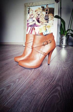 Original Guess Stiefeletten Cognac gold Gr 37,5 neu Ankle Boots Stiefel Schuhe