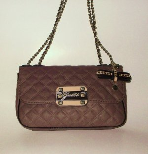 Guess Crossbody bag brown imitation leather