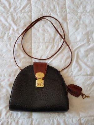 Bag black-bronze-colored leather