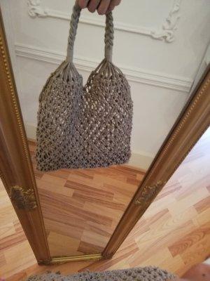 100% Fashion Sac bandoulière beige laine