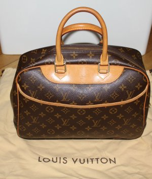 original Handtasche Deauville Monogram LOUIS VUITTON Tasche braun JLo Lopez