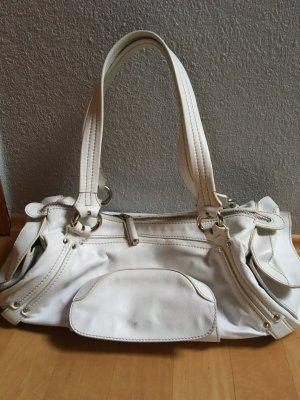 Original Handtasche von Celine Leder weiß