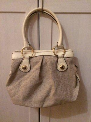 Original Handtasche von DKNY Donna Karen Creme Gold