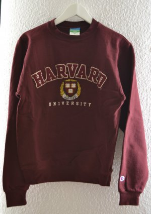 Original HARVARD University College Pullover Sweater rostfarben / bordeaux