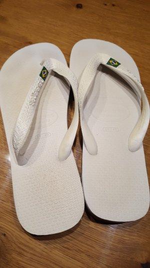 Original Havaianas Brasil, weiß, kaum getragen