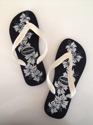 Original Havaianas • dunkelblaue Flip-Flops Größe 37/38
