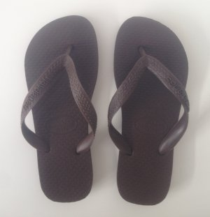 "Original Havaianas Modell ""Top"" in Dunkelbraun"