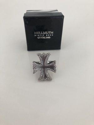 Original Hellmuth Kreuz Ring mit Diamanten Gr.52