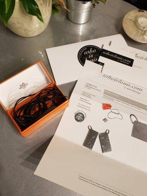 Original Hermès 2 Anhänger Amour Partnerkette & Lederkette & Rechnung & Box