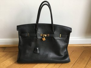 Original Hermès Birkin * 40 * Box Calf * schwarz * Vintage
